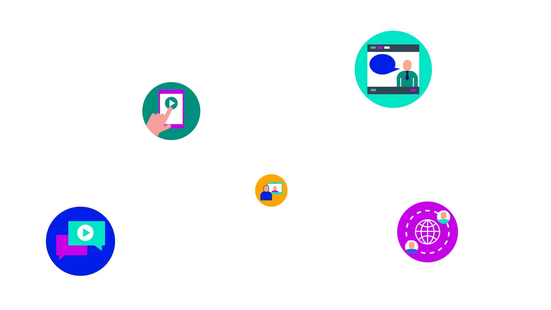 Sensorfy webinar icons on white background